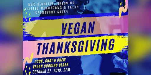 Vegan Cooking Class:  Mac & Cheese and More with  COOK, CHAT AND CHEW