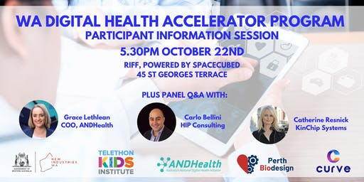 WA Digital Health Accelerator Program - Participant Information Session