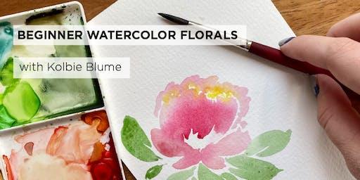 Beginner Watercolor Florals: Poppies & Peonies with Kolbie Blume