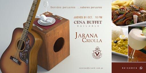 Cena Buffet Día de la Canción Criolla