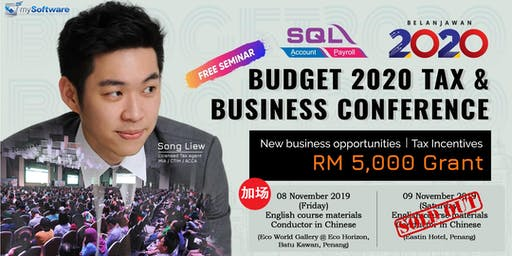 Budget 2020 Tax & Business Conference