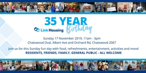 Link Housing's 35 Year Birthday Celebration