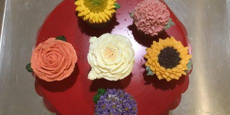 Cupcakes Decorating - 3 Flowers (Sunday, Nov 24th, 11am) tickets