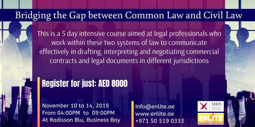 5 days intensive legal English course