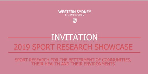 Western Sydney University Sport Research Showcase