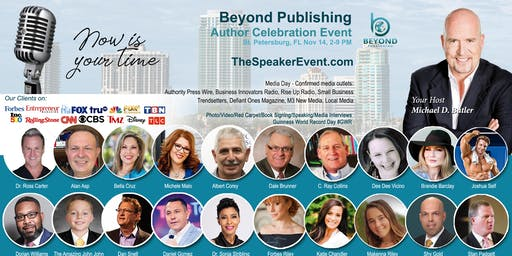 Beyond Publishing St. Pete FL Author Speaking Media Interview Event Nov 14