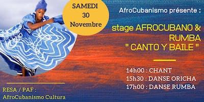 AfroCubanismo Canto   y Baile : Stage de Chants et Danses Afro-Cubaines