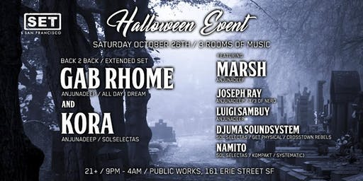 Anjunadeep's Gab Rhome, Kora, Joseph Ray, Marsh & more on Halloween Wknd