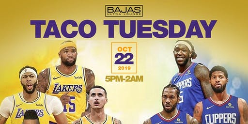 Lakers vs Clippers Taco Tuesday Party