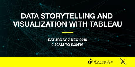 Data Storytelling and Visualization with Tableau tickets