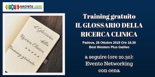 Training Gratuito a Padova: Il Glossario della Ricerca Clinica + Serata Networking
