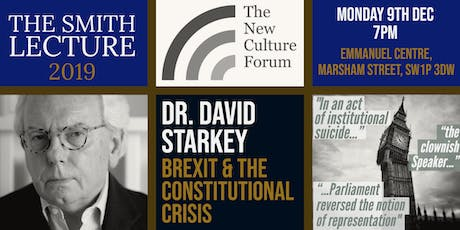 Dr David Starkey: Brexit & The Constitutional Crisis - The 2019 Smith Lecture tickets