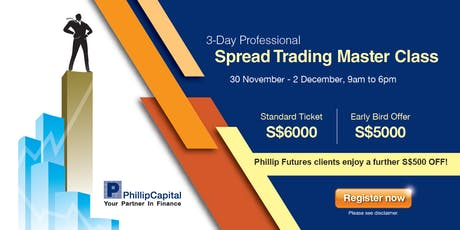 3-Day Professional Spread Trading Master Class tickets