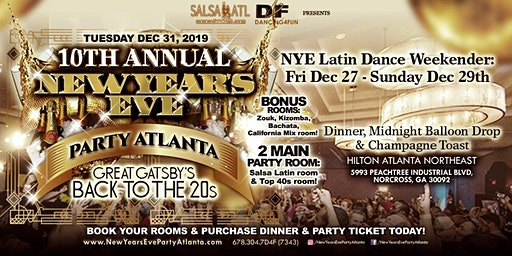 Atlanta New Year's Eve  Back to the 20's Party Tues Dec 31, 2019