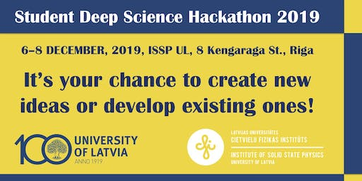 Student Deep Science Hackathon 2019