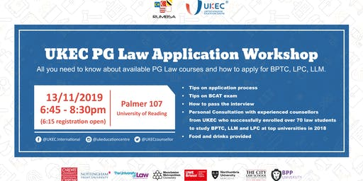 UKEC Postgraduate Law Application Workshop - Reading