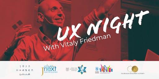 UX Night in Jerusalem - With Vitaly Friedman