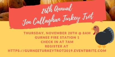 26th Annual Jon Callaghan Memorial Turkey Trot 5K Fun Run&Walk