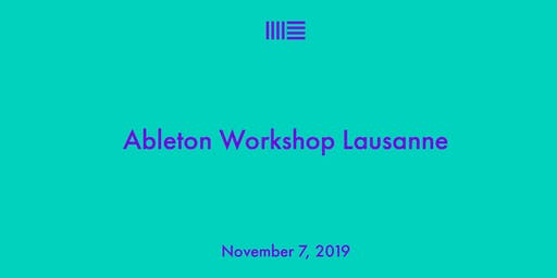 Ableton 10.1 Workshop & Community Event