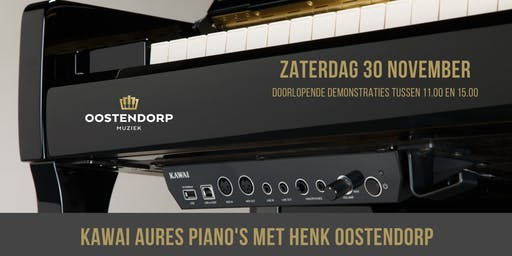 Kawai Aures silent piano demonstraties met Henk Oostendorp