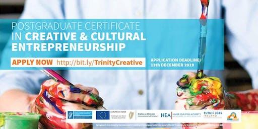 Information Session: PG Cert in Creative & Cultural Entrepreneurship