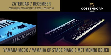 Yamaha MODX / Yamaha CP stage piano demo met Menno Beijer tickets