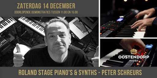 Roland stage piano en synth demo's met Peter Schreurs