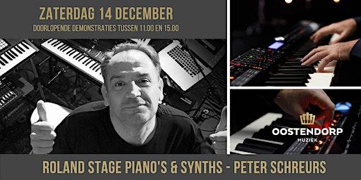 Roland stage piano en synth demo's met Peter Schreurs