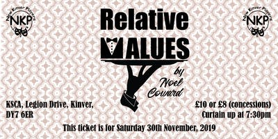 Relative Values - Saturday performance