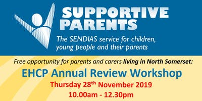 North Somerset EHCP Annual Review Workshop, Thurs 28th Nov 10am - 12.30pm