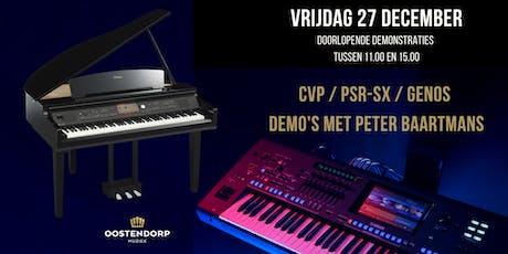 CVP / PSR-SX / Genos demo's met Peter Baartmans tickets