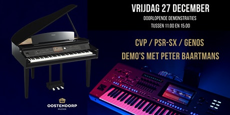 CVP / PSR-SX / Genos demo's met Peter Baartmans tickets