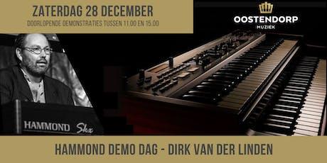 Hammond Demo Dag met Dirk van der Linden tickets