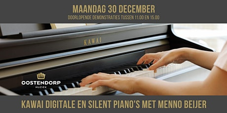 Kawai digitale piano & silent piano demo's met Menno Beijer tickets