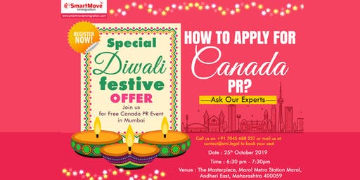 This Diwali migrate to Canada- Start your PR process with us.