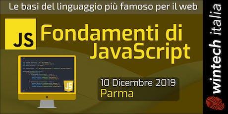 Fondamenti di JavaScript biglietti
