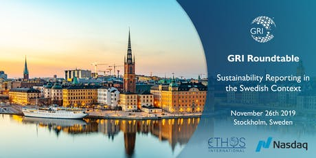 GRI Roundtable – Sustainability Reporting in the Swedish Context tickets