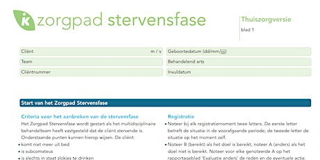 Training Zorgpad Stervenfase tickets
