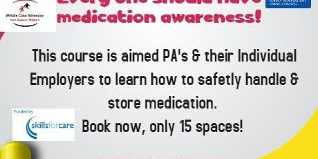 medication awareness  training for personal assistant & individual employer