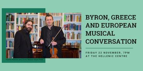 Byron, Greece, and European Musical Conversation tickets