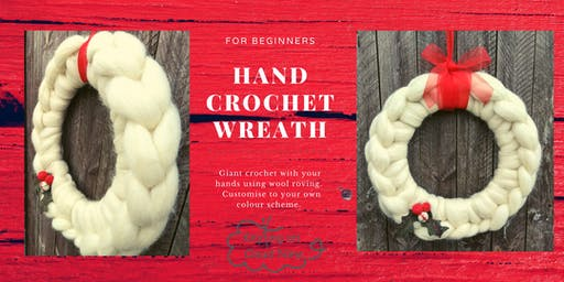 Hand Crochet a Wreath for Paisley Christmas for adults