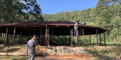 Mutirão de Construção do Templo Sagrado - Sítio em Monteiro Lobato