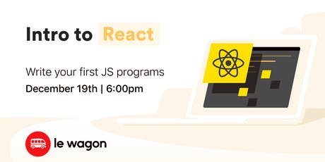 Intro to React Workshop tickets