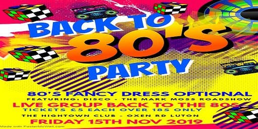 Back To The 80s Party Live at The Hightown Club