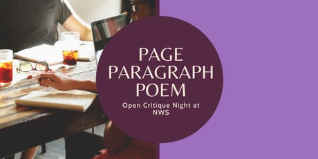 Page.Paragraph.Poem: Open Critique Night  tickets