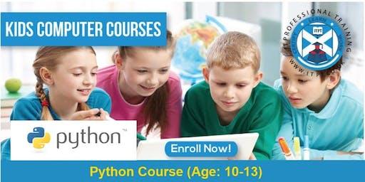 Kids Computer Programming - Python Course (Age 10-13) @ Edinburgh