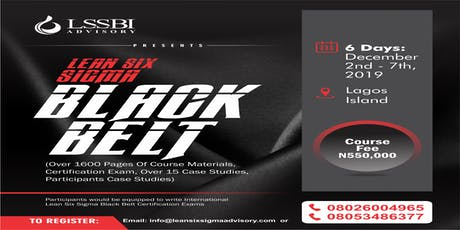 Lean Six Sigma Black Belt  Training Certification biglietti