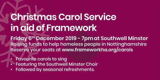 Christmas Carol Service in aid of Framework at Southwell Minster 2019