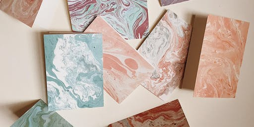 Marbled Paper Stationery Workshop at DOMAIN