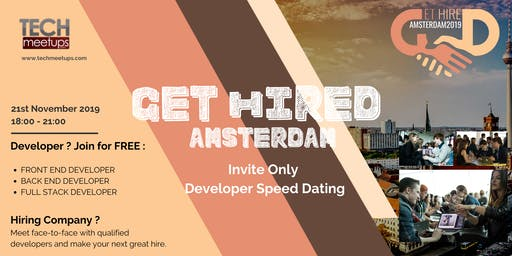 Get Hired Amsterdam 2019